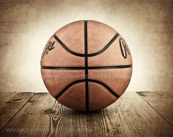 Vintage Basketball on Barnwood Photo Print , Decorating Ideas, Wall Decor, Wall Art,  Kids Room, Nursery Ideas, Gift Ideas,