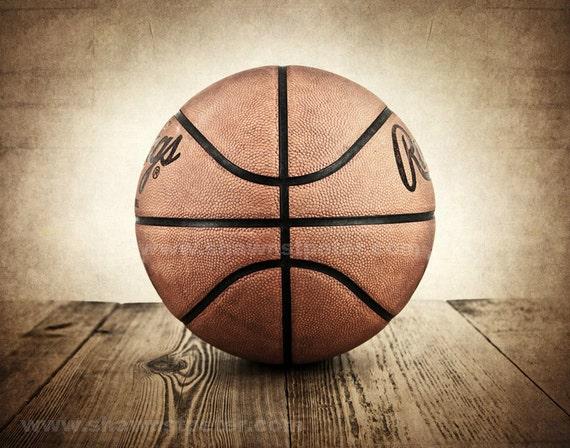 Vintage Basketball On Barnwood Photo Print Decorating Ideas