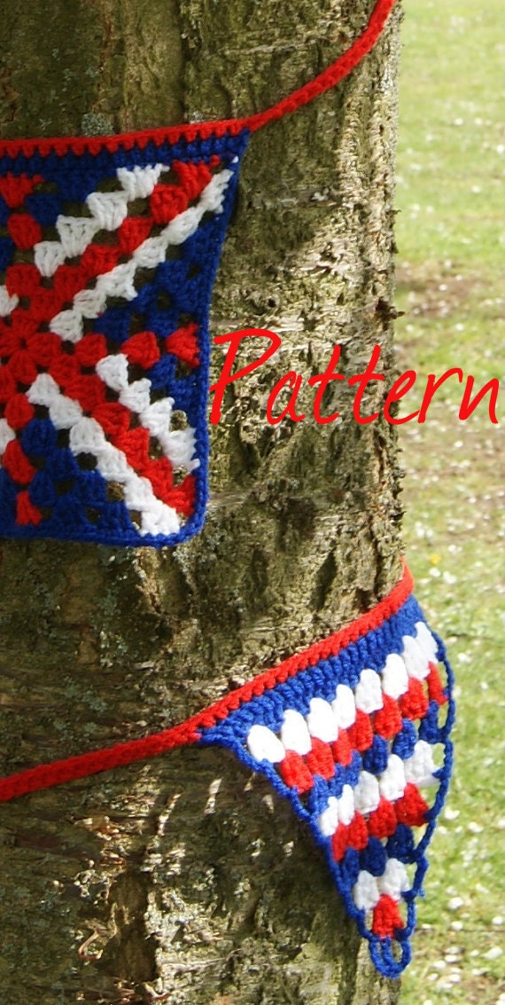 Crochet Pattern Union Jack Pakbit For