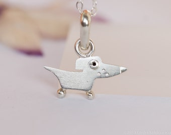 Dog Pendant Sterling Silver Mini Zoo series