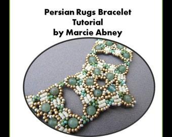Beadweaving Tutorial Peyote Tutorial Beading Jewelry Making Instructions Lessons Beaded Bracelet Cuff Handmade PDF Instant Download