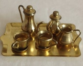 Vintage Miniature Gold Tea Coffee Set