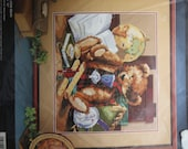 Vintage Bucilla Heirloom Teddy Bear Needlepoint Kit 1990s