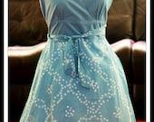 Boho summer hippie tie dye sequin  womens sun cotton dress MEDIUM M