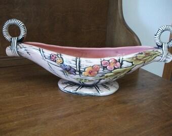 Vintage Hull Pottery T10 1955 - Vase Planter Basket