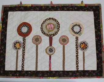 Hand Quilts Brown Cream - Wall Hanging