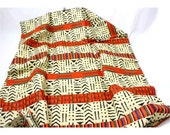 Per Yard Cotton print Kente Mix Tribal Print fabric/Mud Cloth Inspired African Fabric Made in Mali/ African Cotton Print