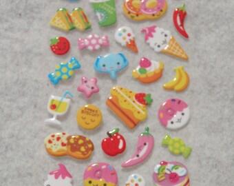 Mixed Cutie Happy Snacks Stickers