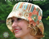 Bucket Hat PDF Sewing Pattern S107ADLT - Teen, Tween, Woman, Adult Bucket Hat E-Pattern