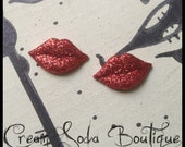 Red Lips Studs