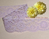 Lavender Lace Trim 10/20 Yards Scalloped Roses 1-7/8 inch Lot H18A Added Items Ship No Charge