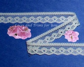 Cream Lace Trim 14/28 Yards Vintage Scroll 1/2 inch wide Lot I26C Added Items Ship No Charge