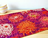 Quilted Table Runner, Modern table runner, Purple table runner, Floral table runner, Phillip Jacobs fabric