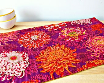 Quilted Table Runner, Modern table runner, Purple table runner, Fall table runner, Quilted Table Topper, Autumn table runner