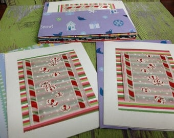 Peppermint Candy  Blank Christmas Cards-9 Count