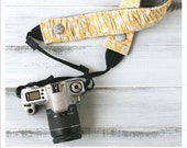 ruched camera strap cover - soft yellow - standard size only