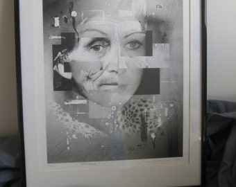 Moira (The Fates) Black and White Lithograph