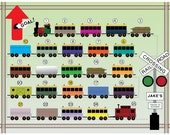 Printable Reward Chart for Kids - Get on Board - Tracks to Success - TRAIN