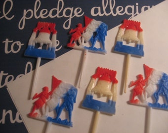 Vintage Patriotic July Fourth Cake Picks Craft Suppies Embellishment