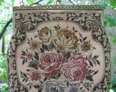 Beautiful Vintage Gold and Floral Brocade Bag