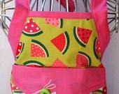Girls Apron In Watermelon Design Gift For Her