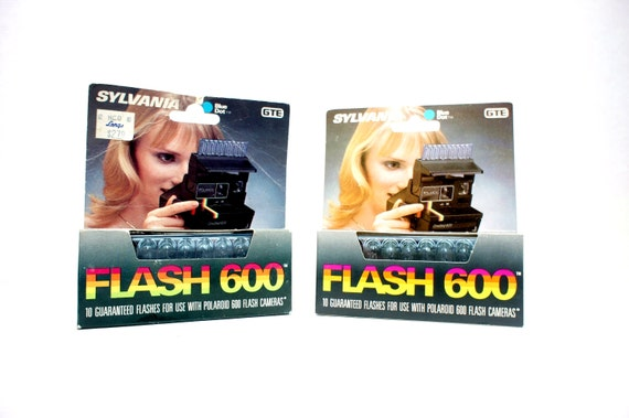 Pair of Flash Bars for 600 Polaroid Cameras New Old Stock