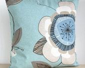 Duck Egg Blue Cushion Cover 18 Inch Pillow Sham Duck Egg Pillow Cover - Passiflora Duck Egg