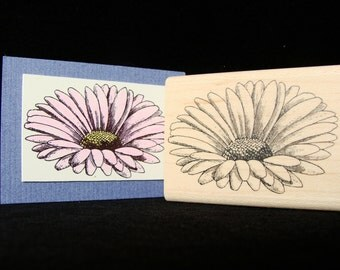 big daisy rubber stamp  (side view)
