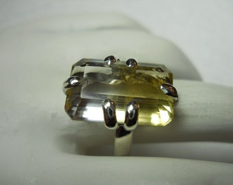 Bi-colored Citrine Gemstone Ring