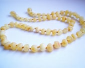 Raw Unpolished  Baroque Light  colour Genuine Baltic  Amber  Necklace Choker  17.7 inches.