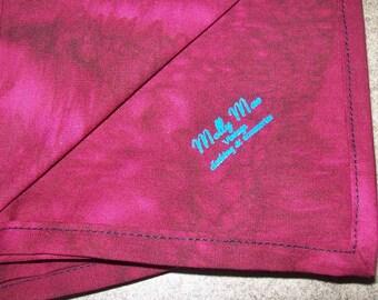 Red Like Blood Batik Cloth Napkins - Set of Two