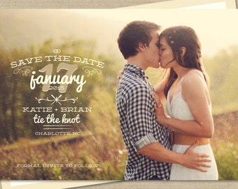 Photo Save-The-Date Postcard or Magnet - Thyme
