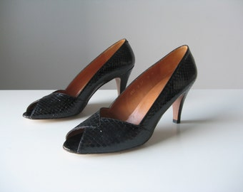 vintage snakeskin leather heels