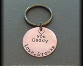 Hand Stamped Personalized Keychain for Dad Grandpa Father's Day Christmas Gift Idea