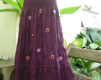 Nothing to Worry About Long Skirt III - Purple