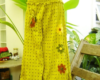 Nothing to Worry About Pants - Polka Dots - Lemon