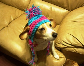 Betty Beagle's Adorable Crochet Dog Hats Hand made by Kams-store.com