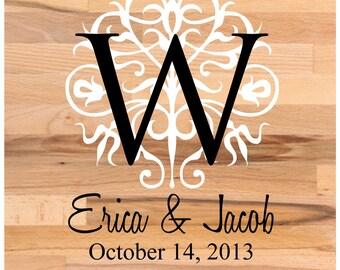 Dance Floor Decal - Dance Floor Monogram - Floor Decal - Wedding Floor Decal - Wedding Decor - Custom Wedding Stickers - Wall Decals