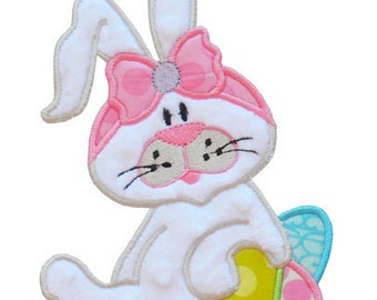 Easter Bunny Applique Design For Machine Embroidery Hoop Size(s) 4x4, 5x7, and 6x10 INSTANT DOWNLOAD now available
