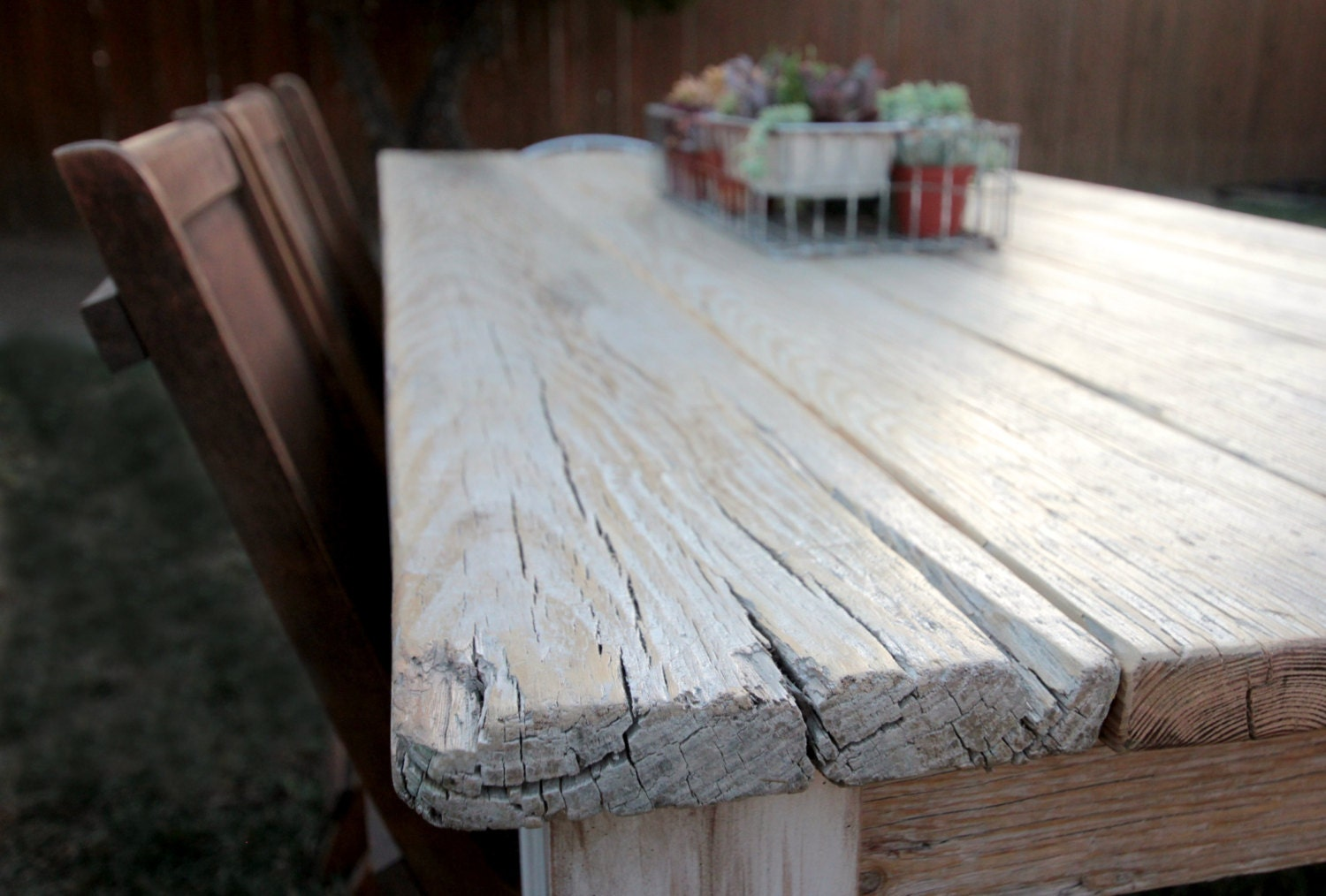 By monkandhoney rustic reclaimed wood farmhouse dining table or desk