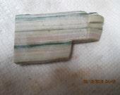 Green Pink Yellow  Striped Jasper Rhyolite Lapidary Slab Large Thick Cut Free Form Wrap Cut It