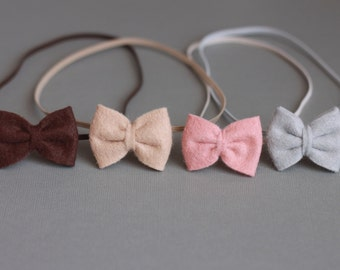 The Macy Single bow - Baby Bow - Childrens/Newborn- Headband-clip - You Pick Colors - Photography Prop-felt