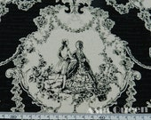 "Vintage prince and princess - 2 yards - cotton linen - 2 colors , patchwork fabric,Check out with code ""5YEAR"" to save 20% off"