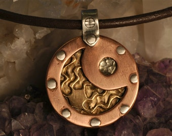 Earthless 1 -  Riveted - Copper - Brass - Sterling Silver