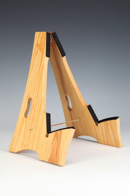 Clear pine wood slay frame guitar stand
