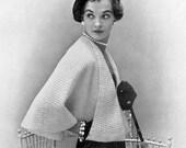 INSTANT PDF Vintage Knitting Pattern Unique Ladies Cape Jacket Shawl Sweater High Fashion Design Vintage Knit Crochet Pattern PDF