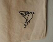 Origami Bird Canvas Tote Bag