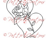 Two Hearts With Rose