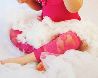 Lace Leggings for Toddler Luxury Hot Pink