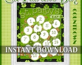 CLEARANCE St. Patrick's Day Candy Countdown, Advent - Printable INSTANT DOWNLOAD